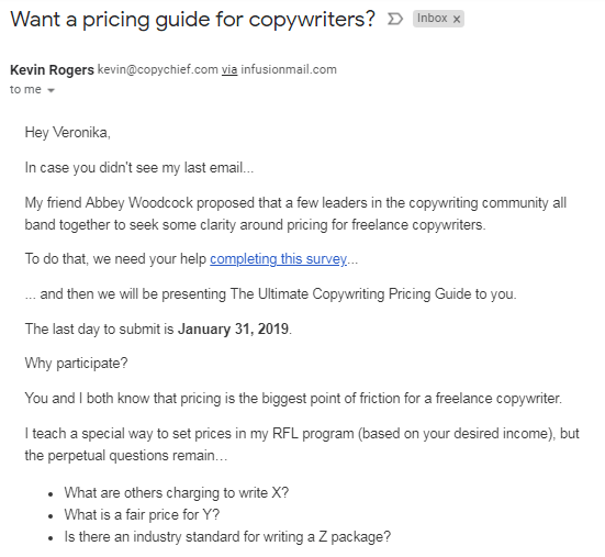 Copychief email