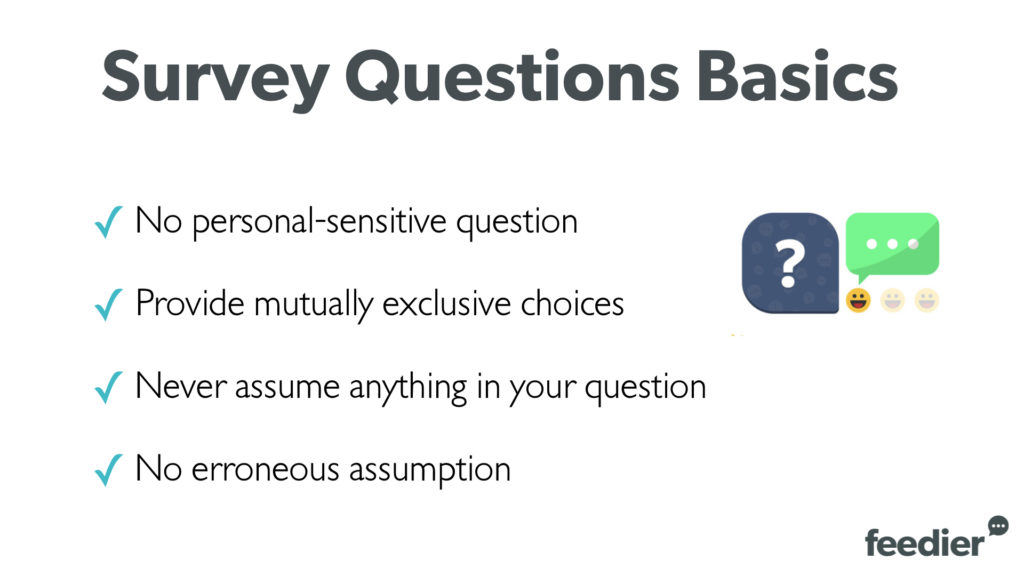 The basics of survey questions