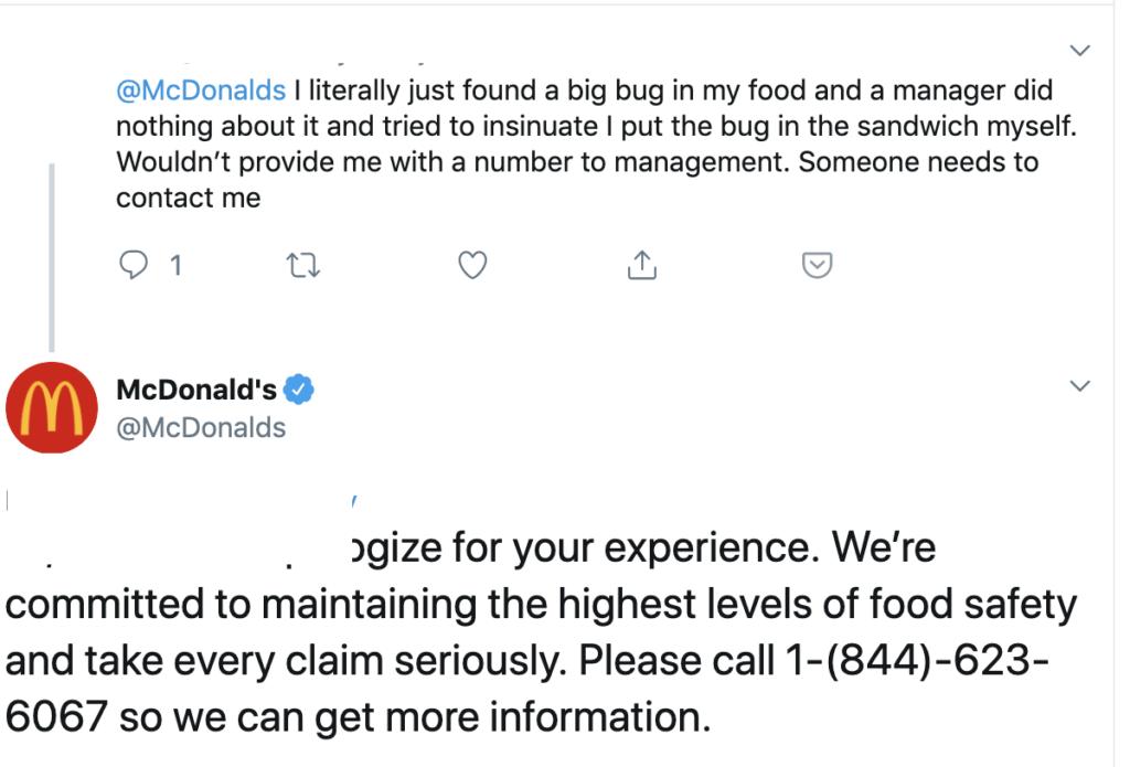 MacDonald's Complaints