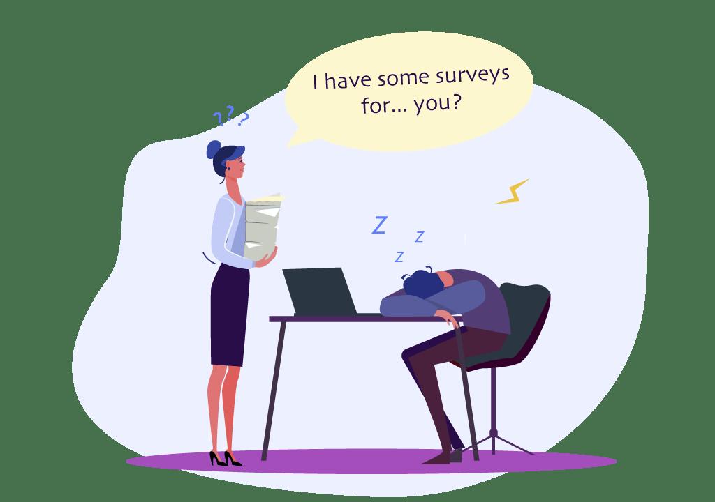 boring surveys and feedback forms