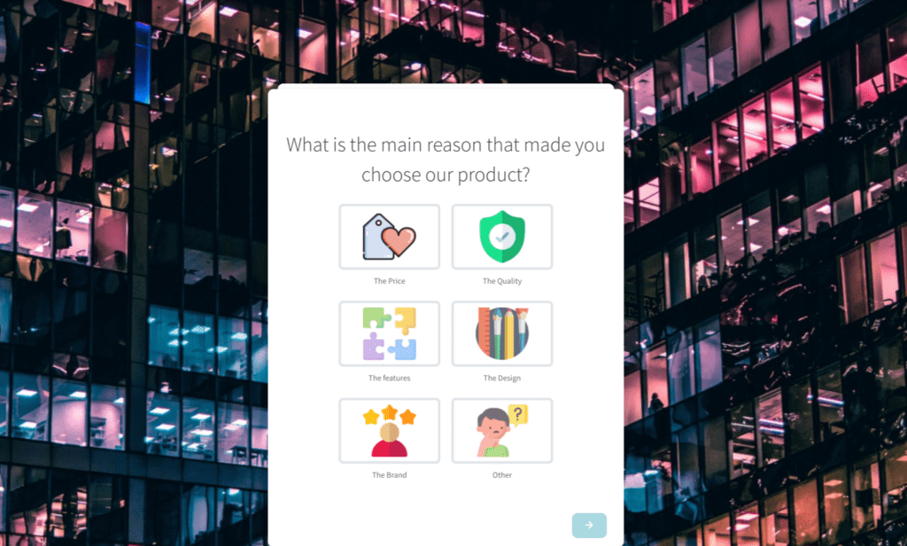 Feedier template feedback form for product manager