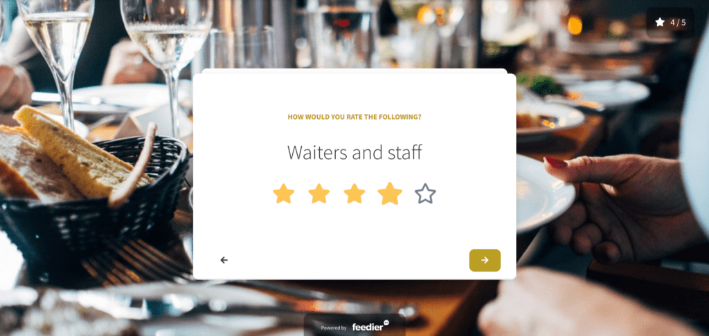 restaurant feedback form template to build a better survey experience