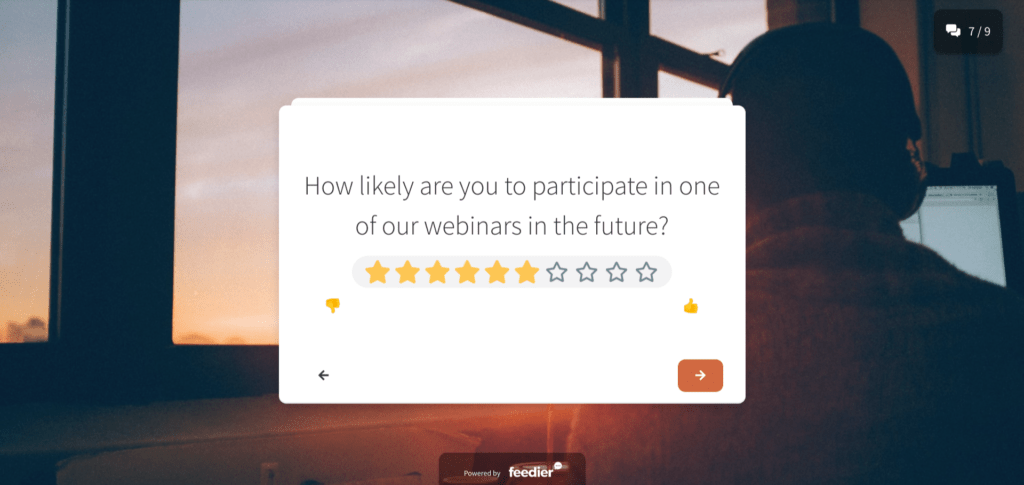 webinar feedback form template better survey experience