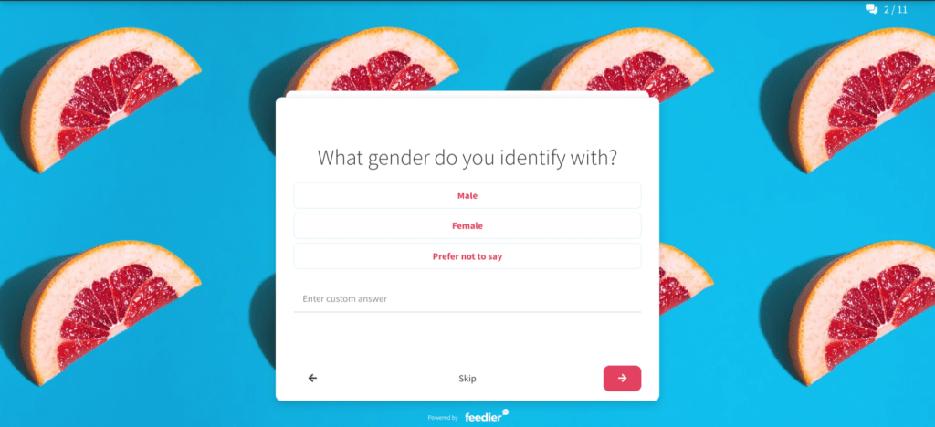 gender demographic survey question
