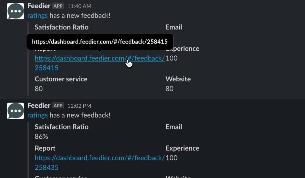 Manage your feedback on slack