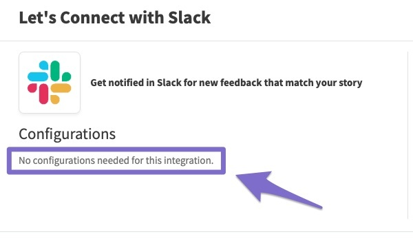 easy to integrate feedier in slack