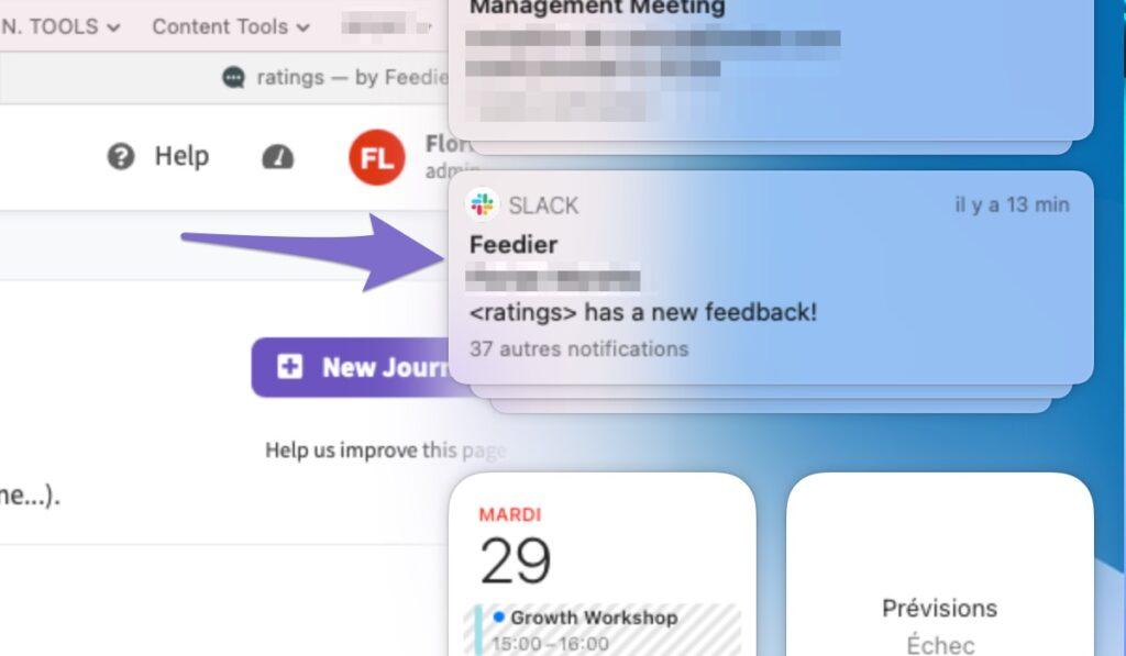 slack notification when new feedback