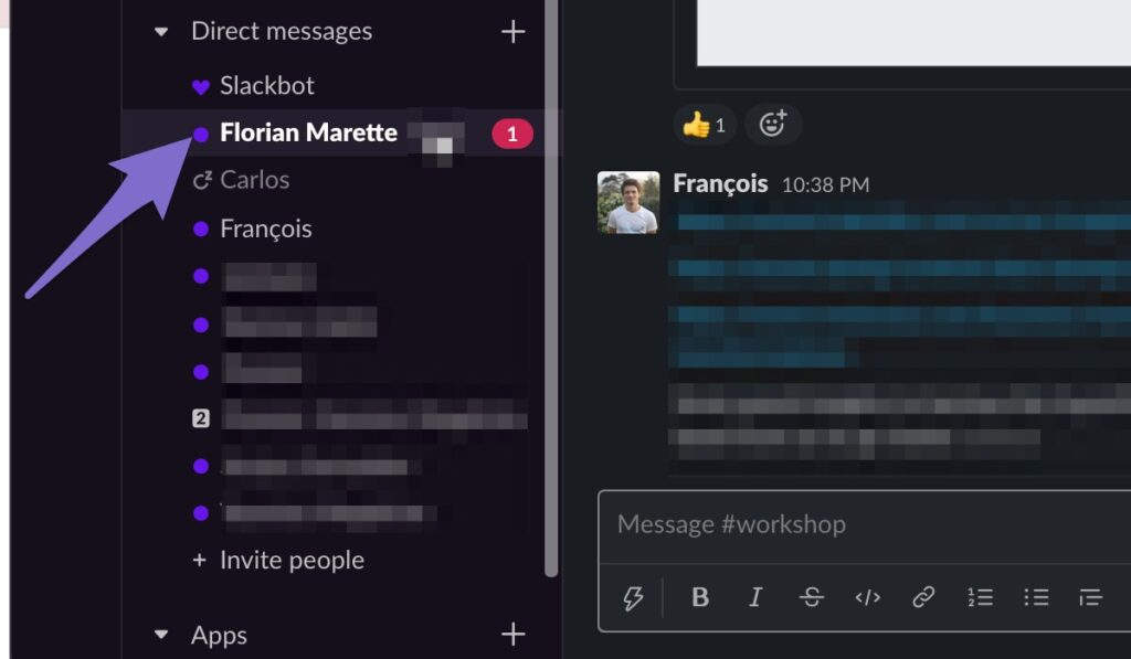 notify the right person on slack