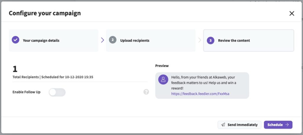 collaboration team tool with email and sms campaign