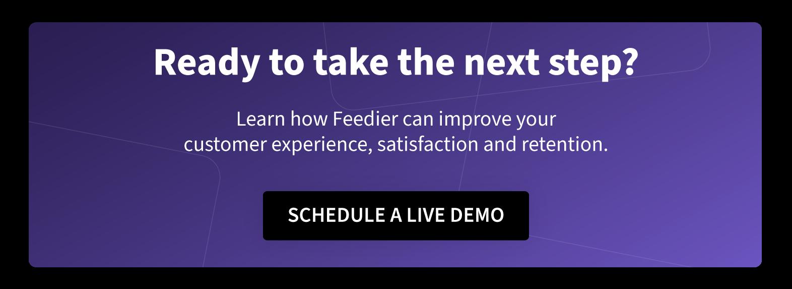 schedule a feedier demonstration