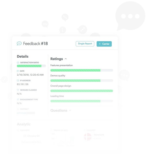 Feedier single feedback report