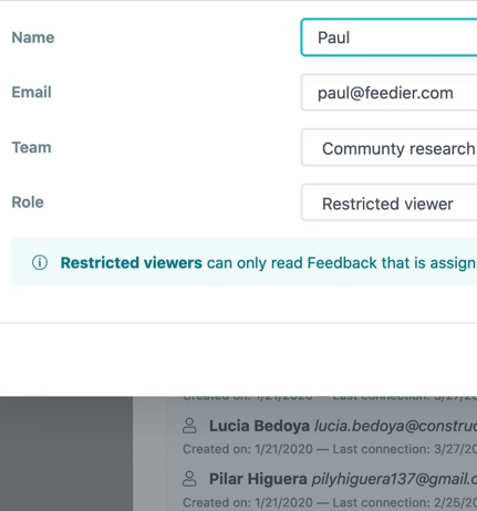 Restricted viewer access